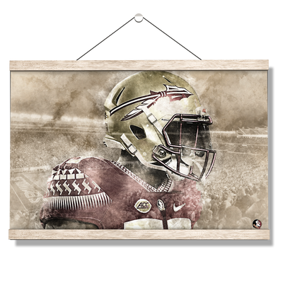 Florida State Seminoles -Vintage Nole - College Wall Art #Hanging Canvas