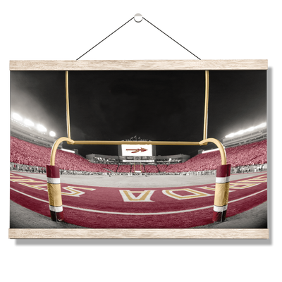 Florida State Seminoles - Seminole End Zone - College Wall Art #Hanging Canvas