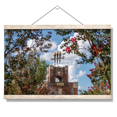 Florida State Seminoles - Red Bloom Framed Torches - College Wall Art #Hanging Canvas