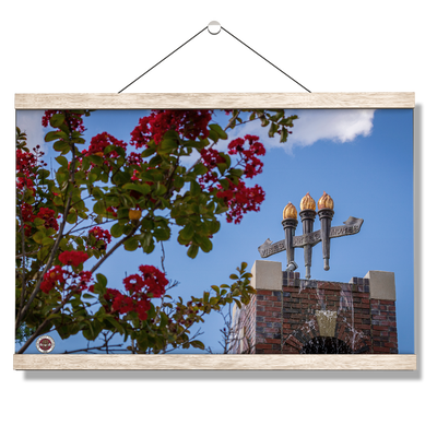 Florida State Seminoles - Red Bloom Torches - College Wall Art #Hanging Canvas