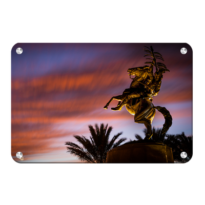 Florida State Seminoles - Osceola Last Light -College Wall Art #Metal