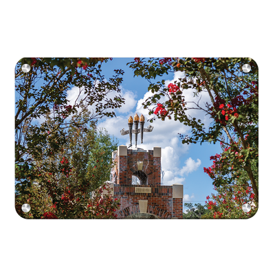 Florida State Seminoles - Red Bloom Framed Torches - College Wall Art #Metal