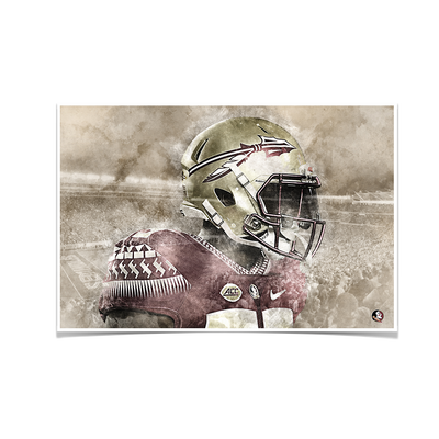 Florida State Seminoles -Vintage Nole - College Wall Art #Poster