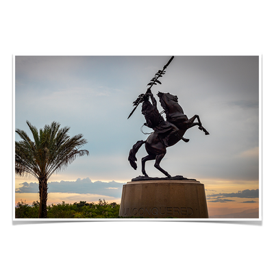 Florida State Seminoles - Unconquered Sunset Skies - College Wall Art #Poster