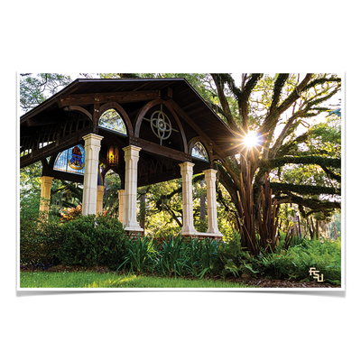 Florida State Seminoles - Gazebo at Greek Park - College Wall Art #Poster