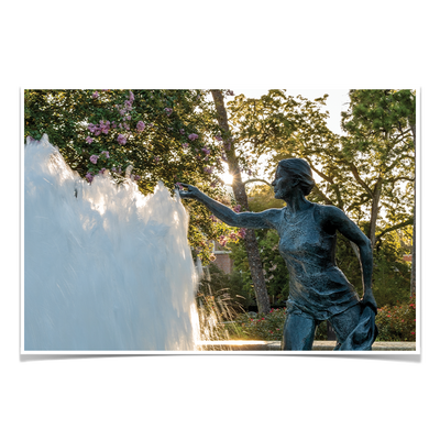 Florida State Seminoles - Landis Fountain Sunrise - College Wall Art #Poster