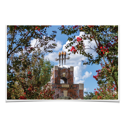 Florida State Seminoles - Red Bloom Framed Torches - College Wall Art #Poster