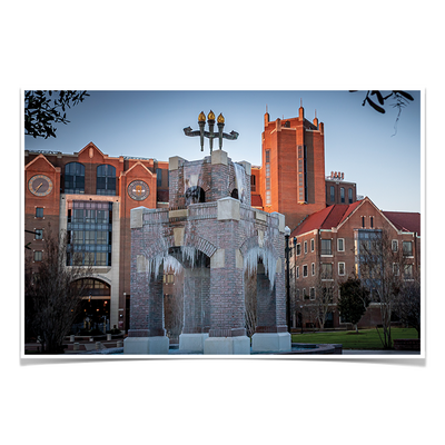 Florida State Seminoles - Tallahassee Winter - College Wall Art #Poster