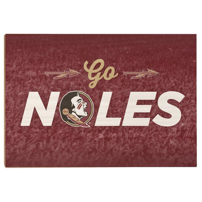 Florida State Seminoles - Go Noles - College Wall Art #Wood