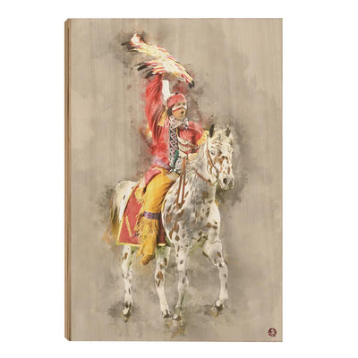 Florida State Seminoles - Osceola Watercolor - College Wall Art #Wood