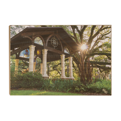 Florida State Seminoles - Gazebo at Greek Park - College Wall Art #Wood