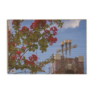 Florida State Seminoles - Red Bloom Torches - College Wall Art #Wood