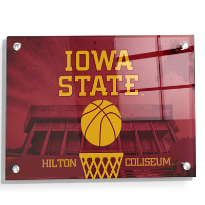 Iowa State Cyclones - Hilton Coliseum Iowa State Basketball - College Wall Art #Acrylic