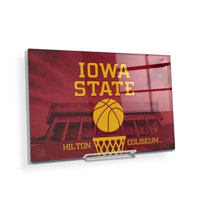 Iowa State Cyclones - Hilton Coliseum Iowa State Basketball - College Wall Art #Acrylic Mini