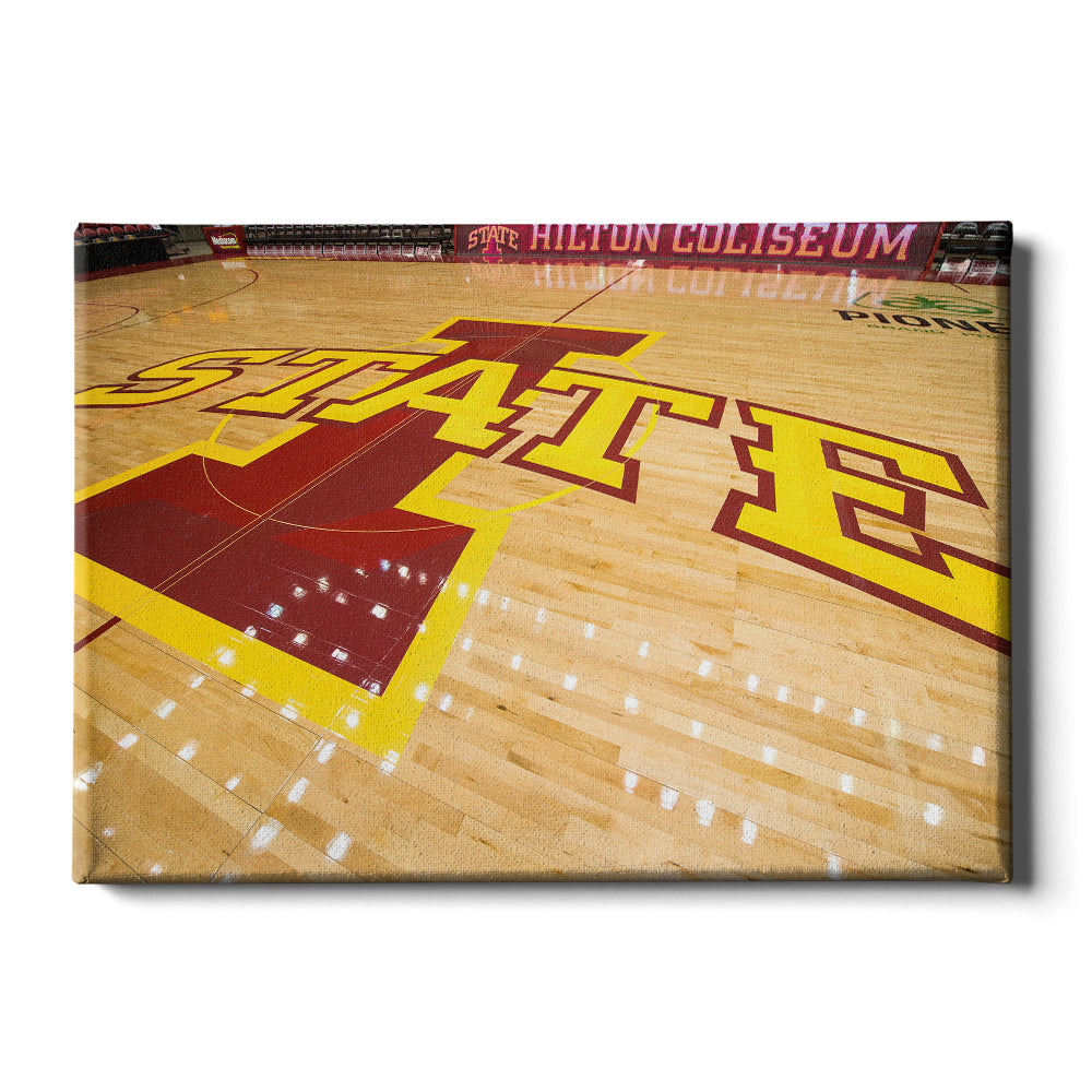 Iowa State Cyclones - Iowa State Mid Court - College Wall Art #Canvas