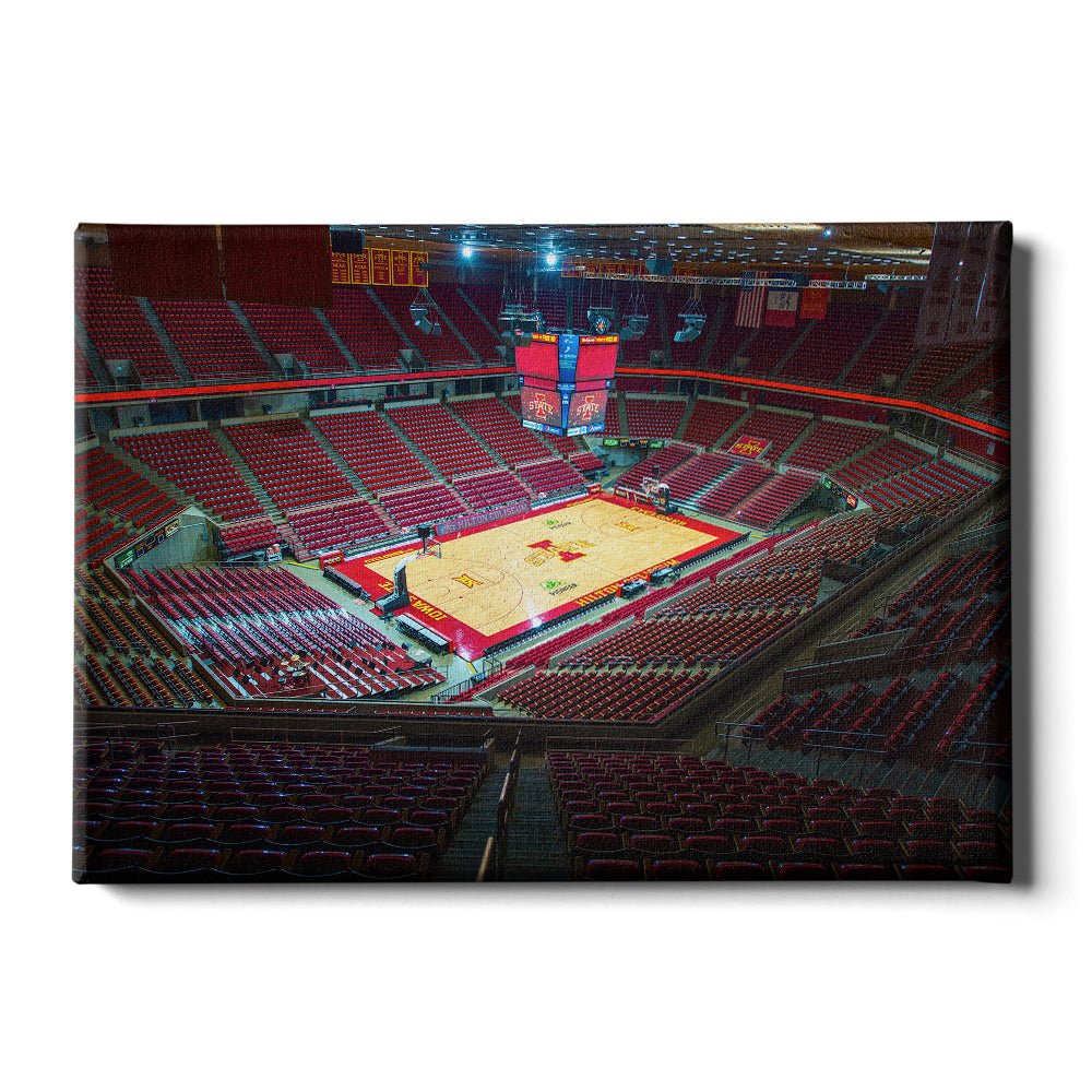Iowa State Cyclones - Inside Hilton Collisium - College Wall Art #Canvas