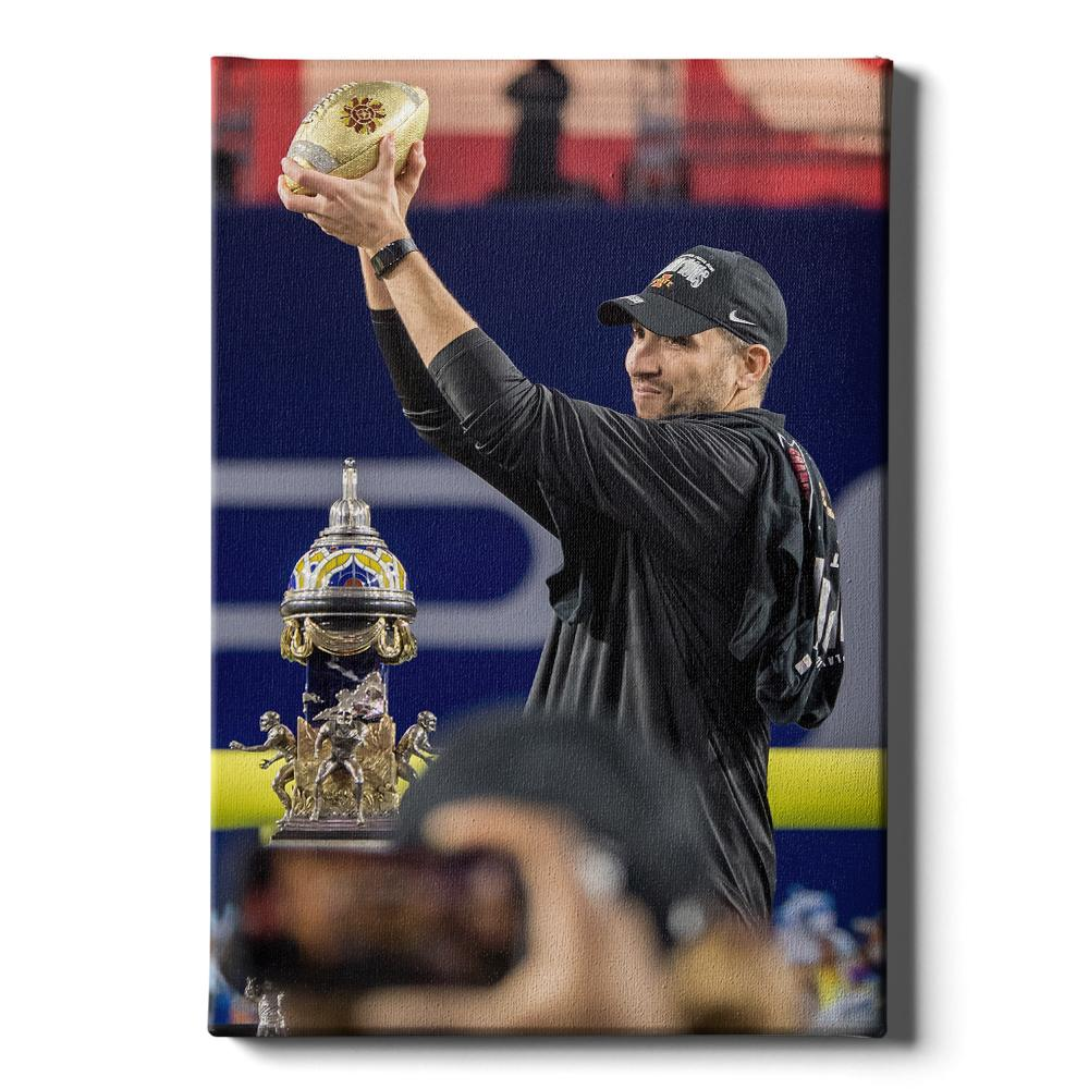 Iowa State Cyclones - Victory Matt Campbell - College Wall Art #Canvas
