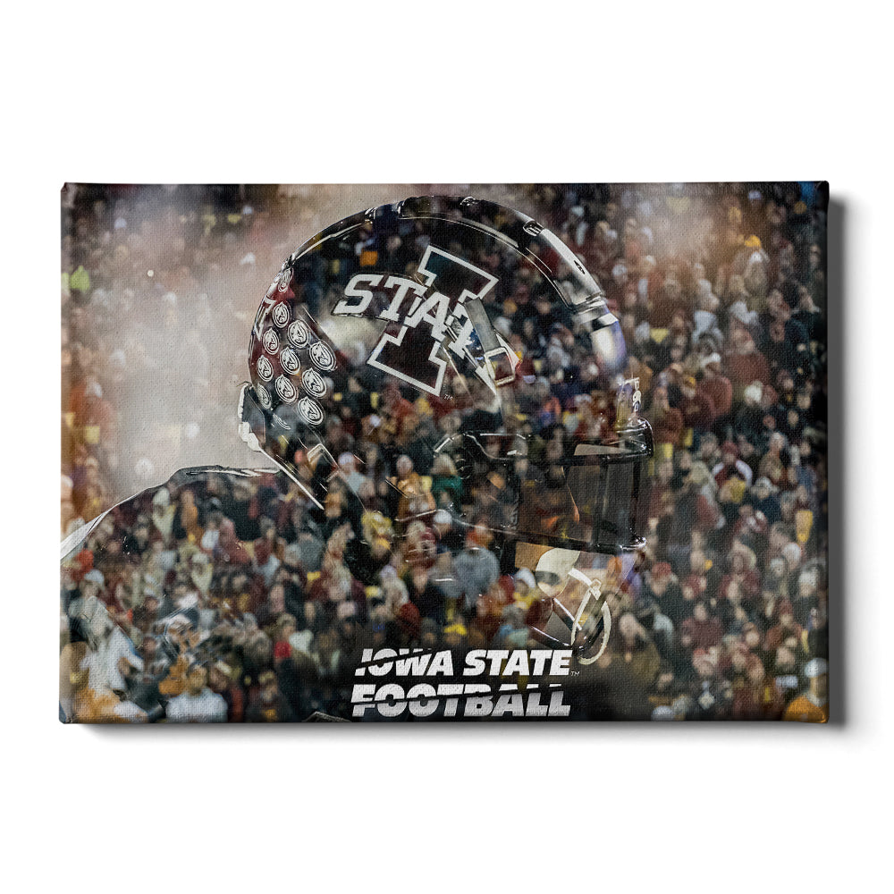 Iowa State Cyclones - Iowa State Football Double Exposure - College Wall Art #Canvas