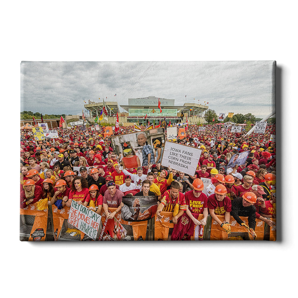 Iowa State Cyclones - Football Game Day - College Wall Art #Canvas