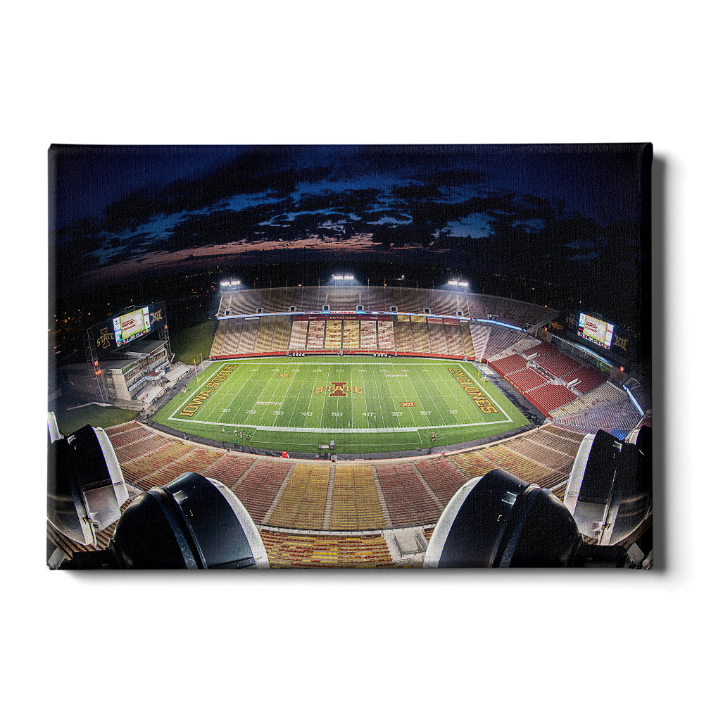 Iowa State Cyclones - Birds Eye View Jack Trice Stadium - College Wall Art #Canvas