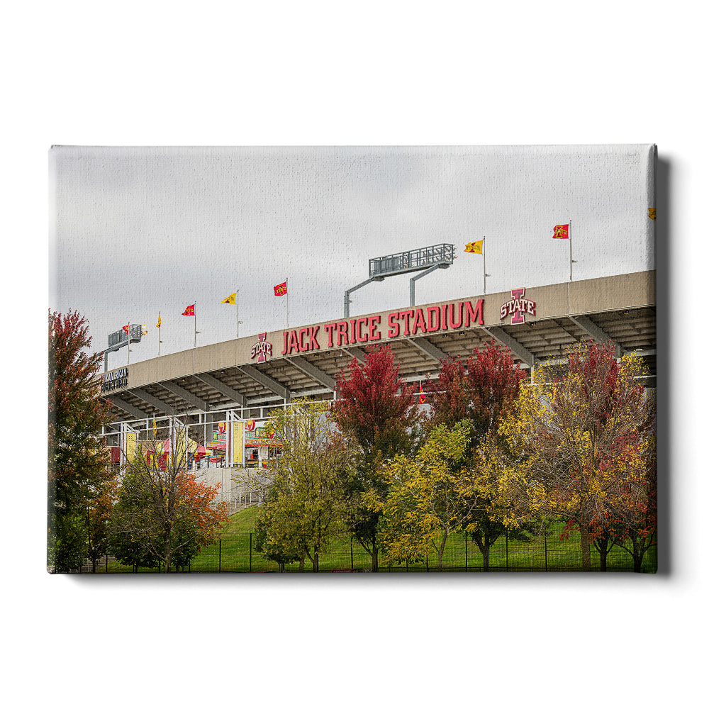 Iowa State Cyclones - Autumn Jack Trice - College Wall Art #Canvas