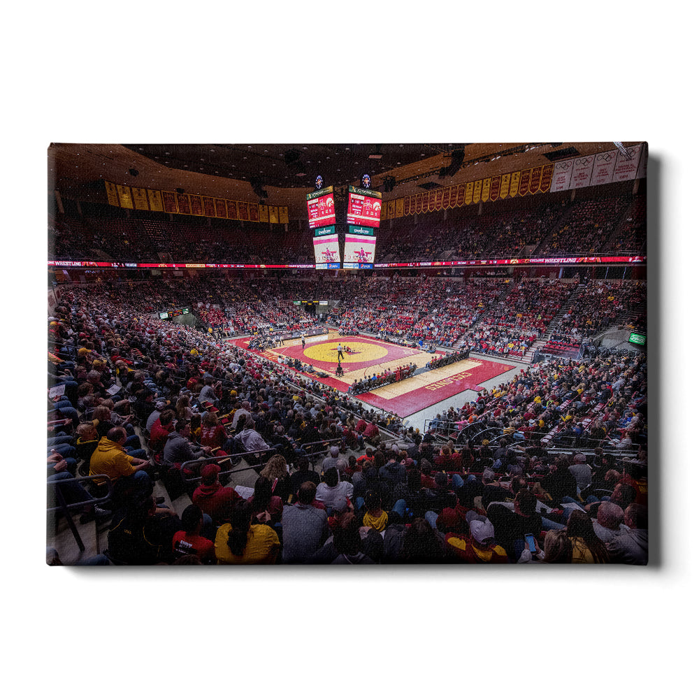 Iowa State Cyclones - Cyclone Wrestling - College Wall Art #Canvas