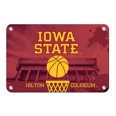 Iowa State Cyclones - Hilton Coliseum Iowa State Basketball - College Wall Art #Metal