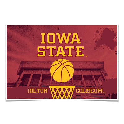 Iowa State Cyclones - Hilton Coliseum Iowa State Basketball - College Wall Art #Poster