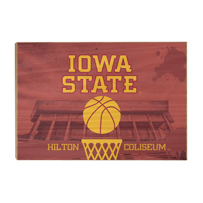 Iowa State Cyclones - Hilton Coliseum Iowa State Basketball - College Wall Art #Wood