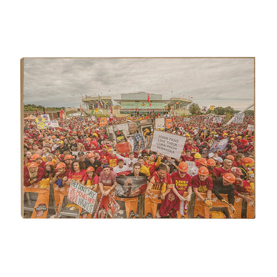 Iowa State Cyclones - Football Game Day - College Wall Art #Wood