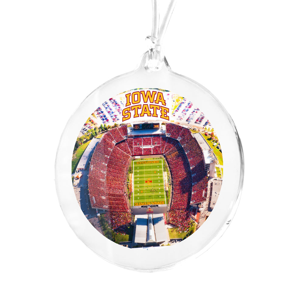 Iowa State Cyclones - Jack Trice Aerial Bag Tag & Ornament