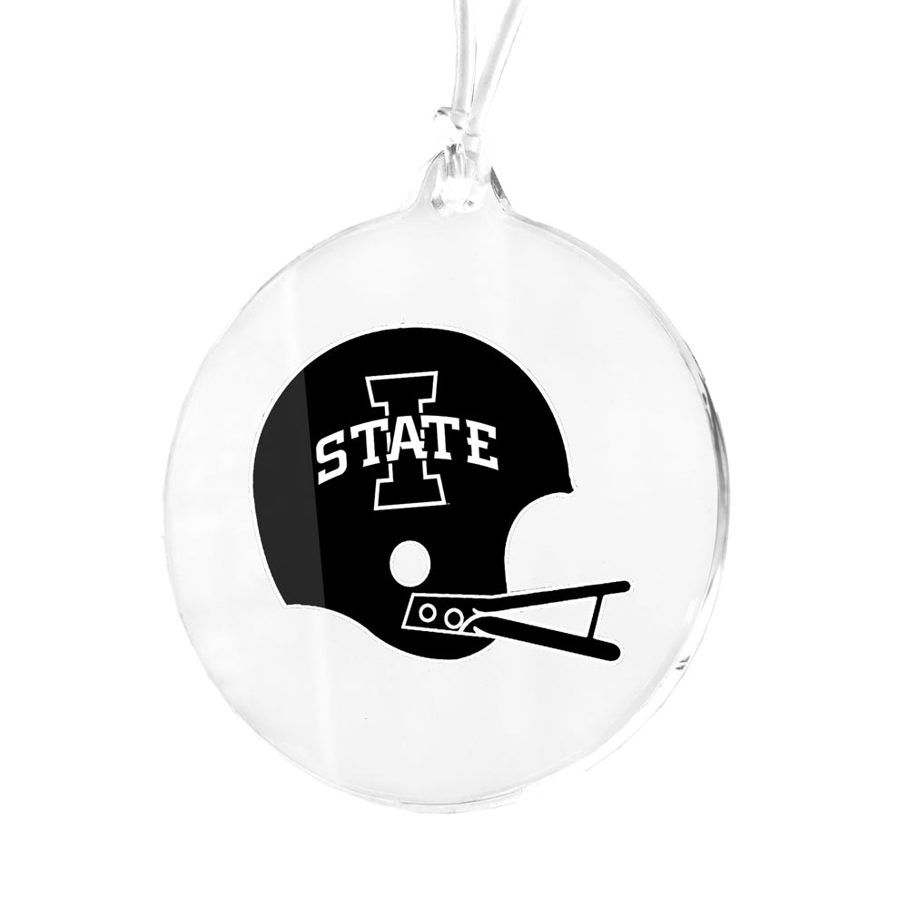 Iowa State Cyclones - Black White Helmet Bag Tag & Ornament