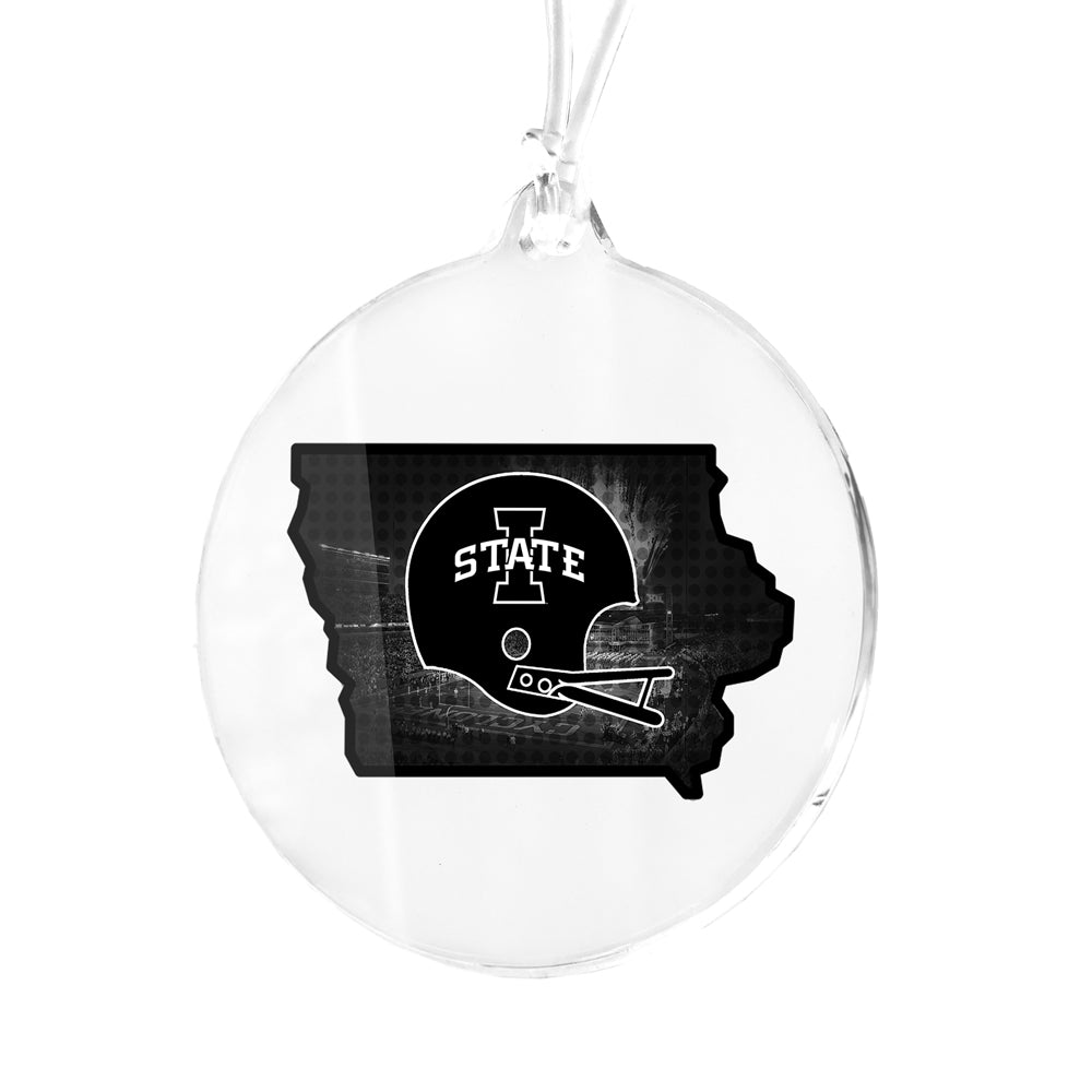 Iowa State Cyclones - Iowa State B&W Bag Tag & Ornament