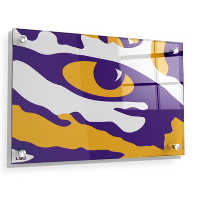 LSU Tigers - Eye of the Tiger - College Wall Art #Acrylic