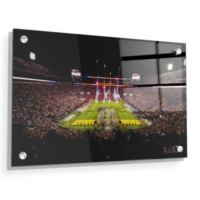 LSU Tigers - Saturday Night in Death Valley - College Wall Art #Acrylic