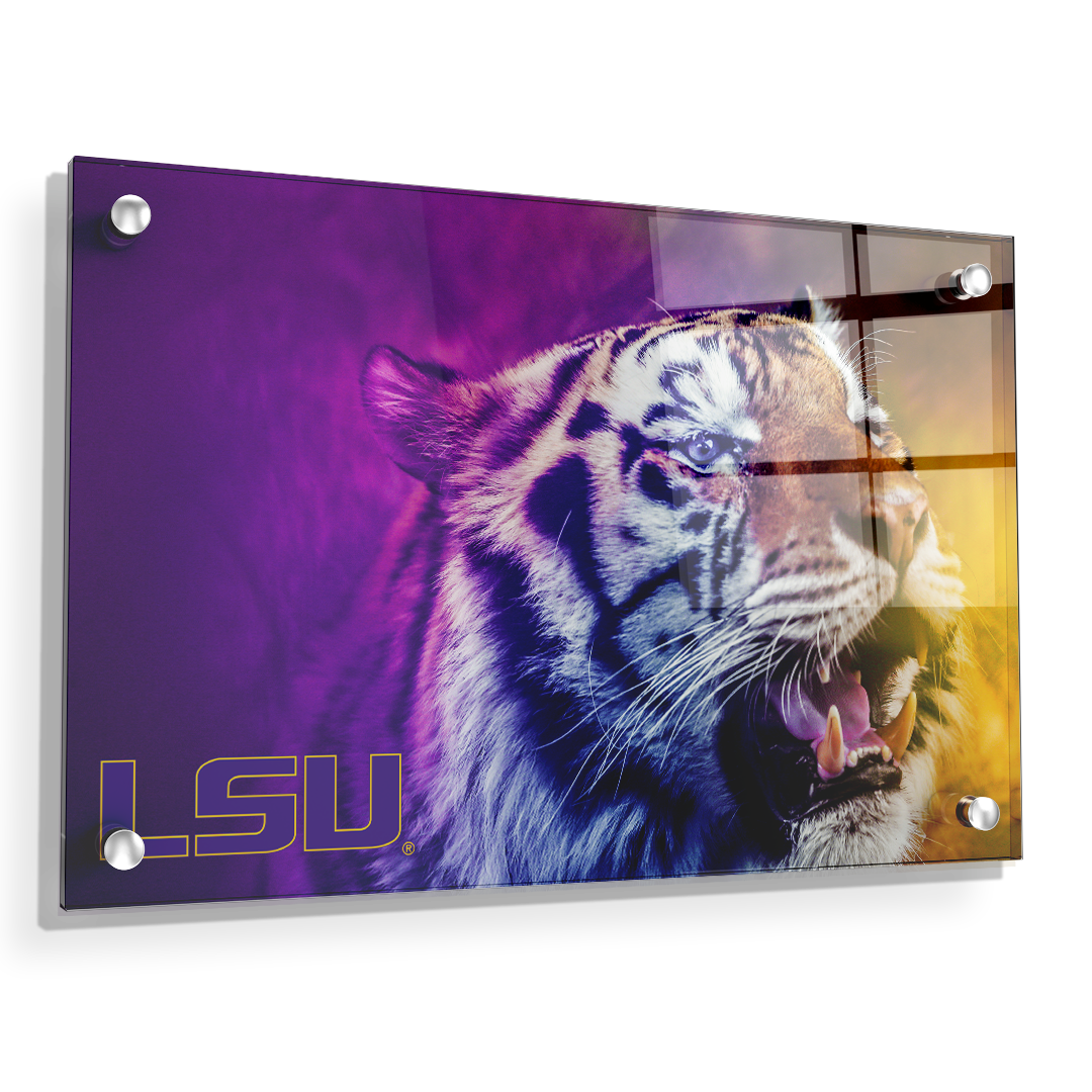 LSU Tigers - Mike's Colors - College Wall Art #Canvas