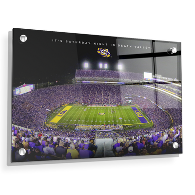 LSU TIGERS - It's Saturday Night in Death Valley - College Wall Art #Acrylic