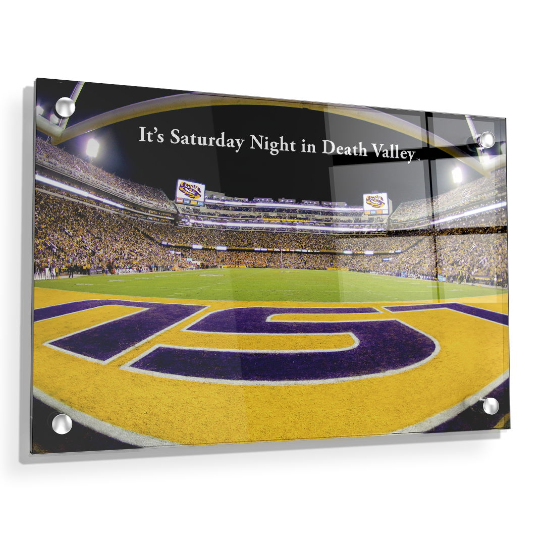 LSU Tigers - It's Saturday Night in Death Valley End Zone - College Wall Art #Canvas