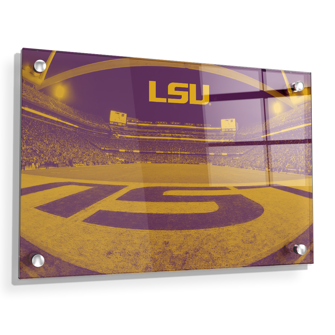 LSU Tigers - Tiger Stadium End Zone Duotone - College Wall Art #Canvas