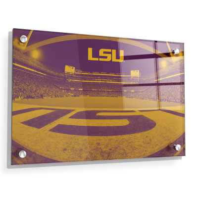LSU Tigers - Tiger Stadium End Zone Duotone - College Wall Art #Acrylic