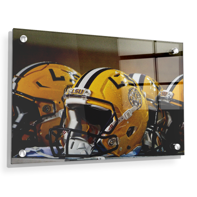 LSU Tigers - LSU Helmets - College Wall Art #Acrylic