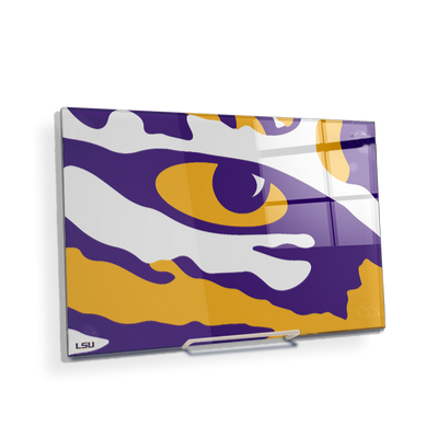 LSU Tigers - Eye of the Tiger - College Wall Art #Acrylic Mini