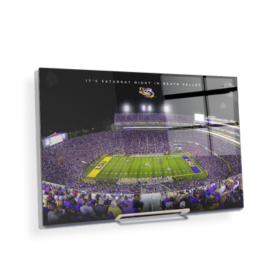 LSU TIGERS - It's Saturday Night in Death Valley - College Wall Art #Acrylic Mini