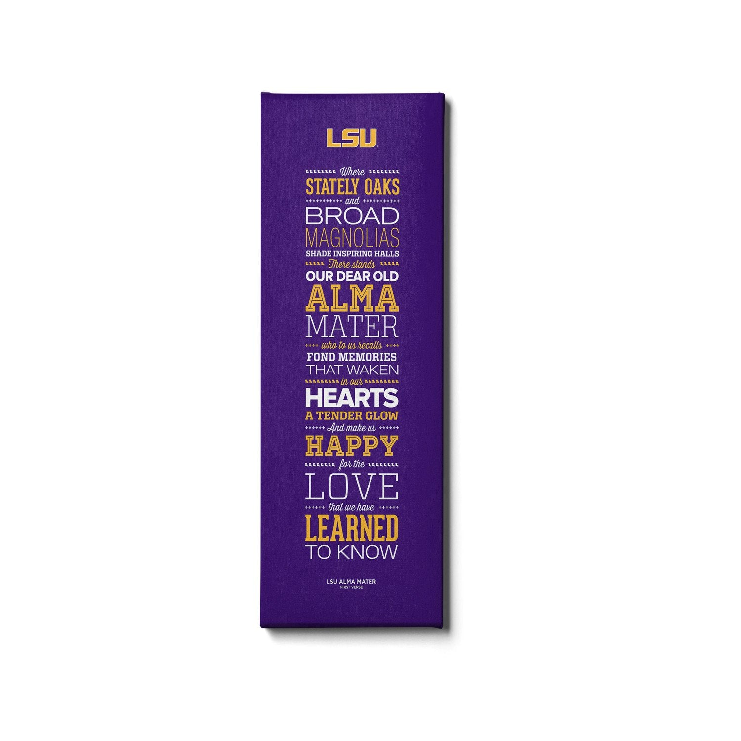 LSU Tigers - Alma Mater - College Wall Art #Canvas