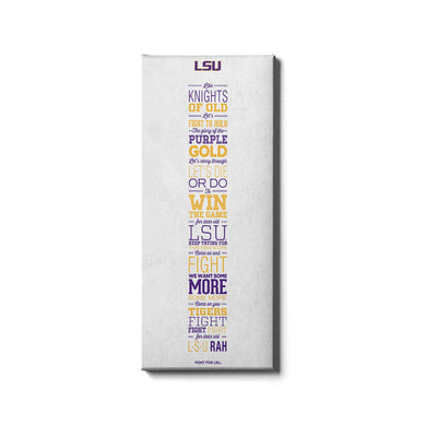 LSU Tigers - Fight for LSU - College Wall Art #Canvas