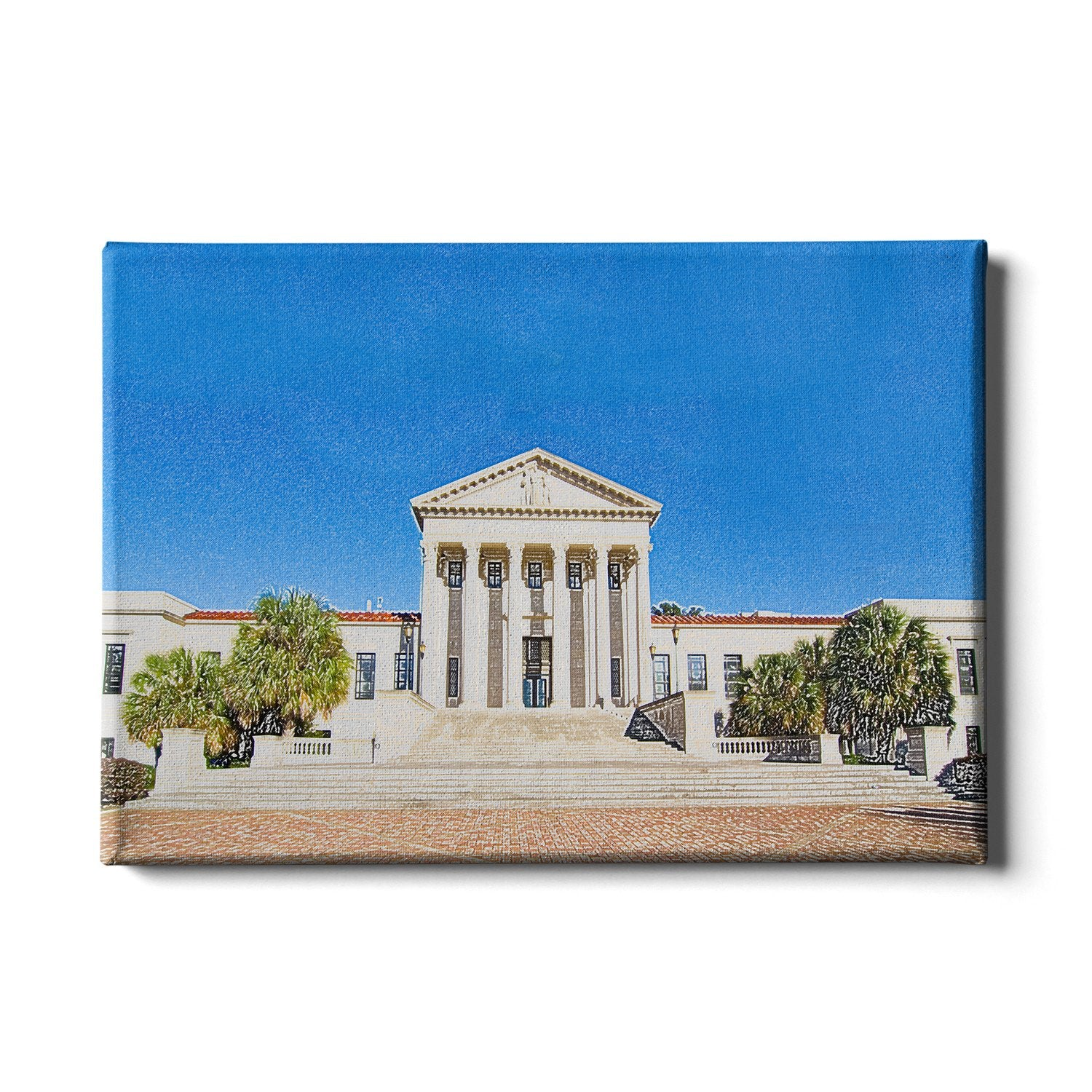LSU Tigers - Paul M. Hebert Law Center Sketch #Canvas