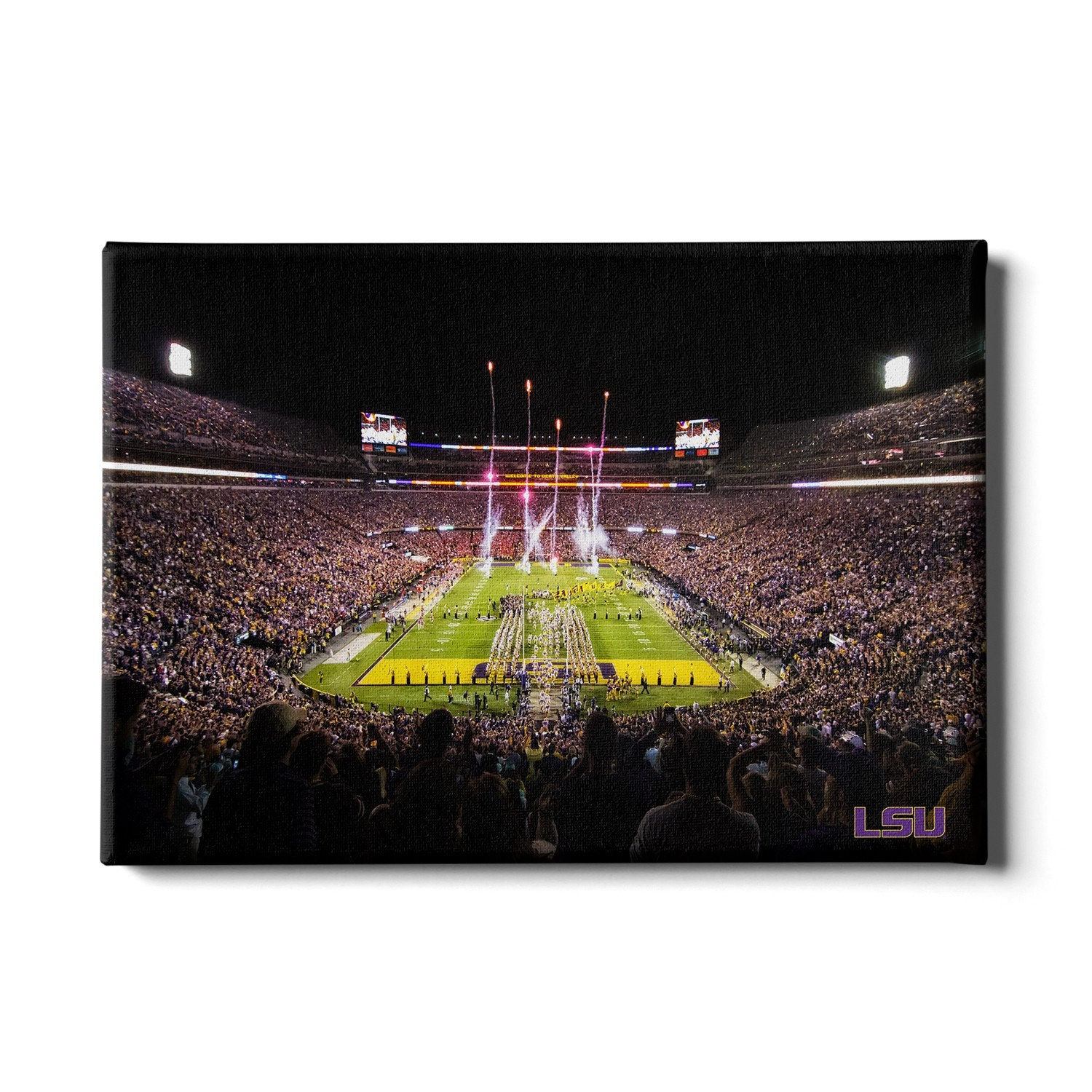 LSU Tigers - Saturday Night in Death Valley #Canvas