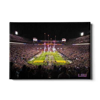 LSU Tigers - Saturday Night in Death Valley - College Wall Art #Canvas