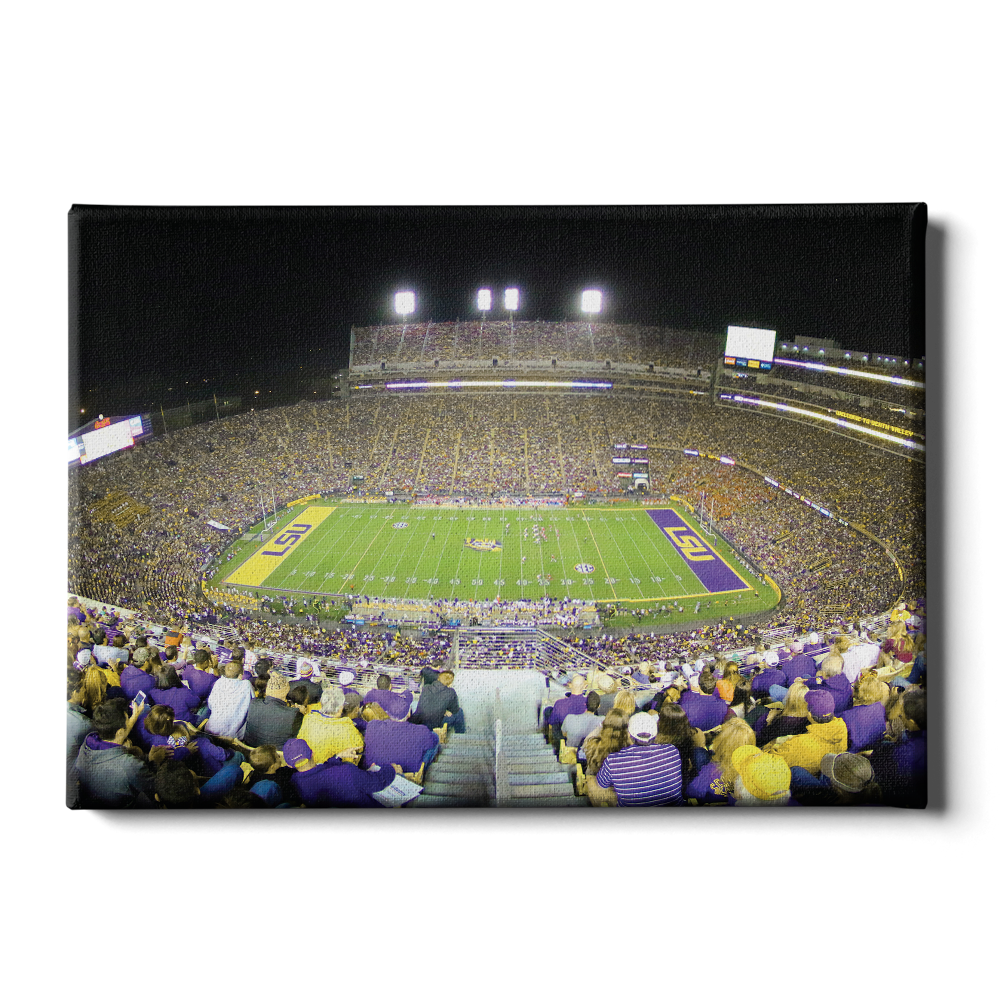 LSU TIGERS - Tiger Stadium View - College Wall Art #Canvas