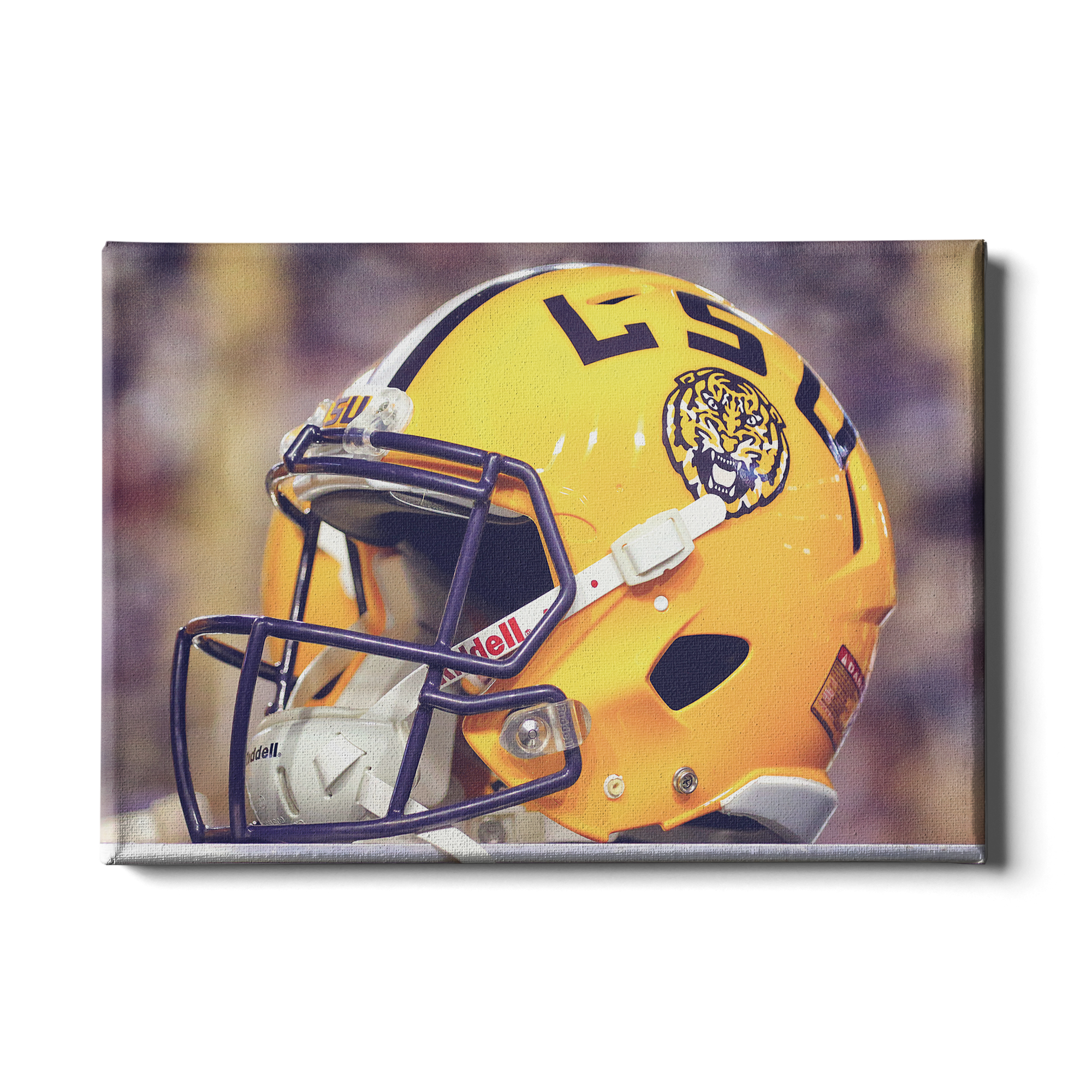 LSU Tigers - Tiger Helmet - College Wall Art #Canvas